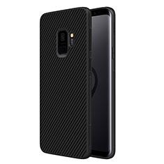 Custodia Silicone Morbida Spigato per Samsung Galaxy S9 Nero