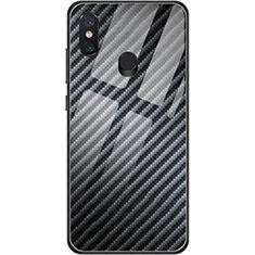 Custodia Silicone Morbida Spigato per Xiaomi Mi 8 Nero