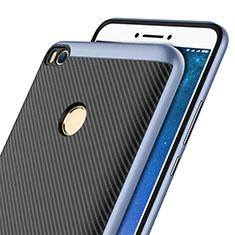Custodia Silicone Morbida Spigato per Xiaomi Mi Max 2 Blu