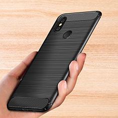 Custodia Silicone Morbida Spigato per Xiaomi Mi Mix 3 Nero