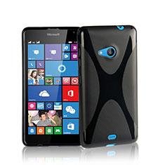 Custodia Silicone Morbida X-Line per Microsoft Lumia 535 Nero