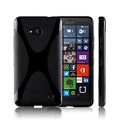 Custodia Silicone Morbida X-Line per Microsoft Lumia 640 Nero