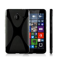 Custodia Silicone Morbida X-Line per Microsoft Lumia 640 XL Lte Nero
