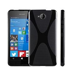 Custodia Silicone Morbida X-Line per Microsoft Lumia 650 Nero