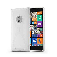 Custodia Silicone Morbida X-Line per Nokia Lumia 830 Bianco
