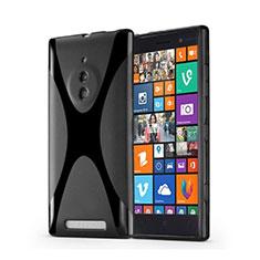 Custodia Silicone Morbida X-Line per Nokia Lumia 830 Nero