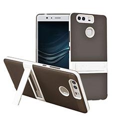 Custodia Silicone Opaca con Supporto per Huawei P9 Plus Grigio