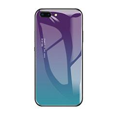 Custodia Silicone Specchio Laterale Cover A01 per Apple iPhone 8 Plus Verde