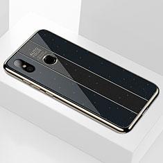Custodia Silicone Specchio Laterale Cover A01 per Xiaomi Mi 8 Nero