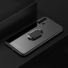Custodia Silicone Specchio Laterale Cover con Magnetico Anello Supporto per Huawei Honor 20 Pro Nero