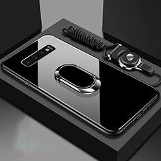 Custodia Silicone Specchio Laterale Cover con Magnetico Anello Supporto per Samsung Galaxy S10 5G Nero