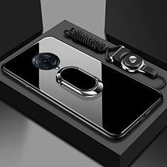 Custodia Silicone Specchio Laterale Cover con Magnetico Anello Supporto per Vivo Nex 3 Nero