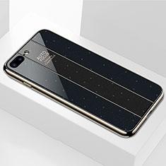 Custodia Silicone Specchio Laterale Cover M01 per Apple iPhone 7 Plus Nero