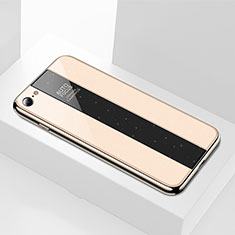 Custodia Silicone Specchio Laterale Cover M01 per Apple iPhone 8 Oro