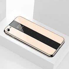 Custodia Silicone Specchio Laterale Cover M01 per Apple iPhone SE (2020) Oro
