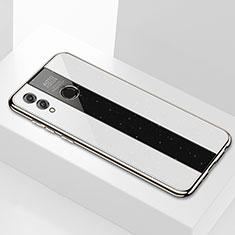 Custodia Silicone Specchio Laterale Cover M01 per Huawei Enjoy Max Bianco