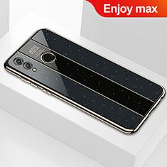 Custodia Silicone Specchio Laterale Cover M01 per Huawei Enjoy Max Nero