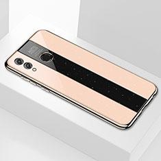 Custodia Silicone Specchio Laterale Cover M01 per Huawei Enjoy Max Oro
