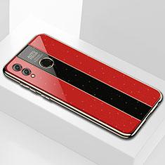 Custodia Silicone Specchio Laterale Cover M01 per Huawei Enjoy Max Rosso
