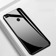 Custodia Silicone Specchio Laterale Cover M01 per Huawei Honor 9 Lite Nero