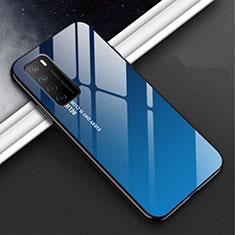 Custodia Silicone Specchio Laterale Cover M01 per Huawei Honor Play4 5G Blu