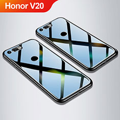 Custodia Silicone Specchio Laterale Cover M01 per Huawei Honor V20 Nero