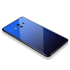 Custodia Silicone Specchio Laterale Cover M01 per Huawei Mate 10 Blu