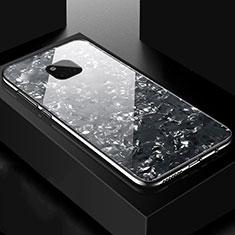 Custodia Silicone Specchio Laterale Cover M01 per Huawei Mate 20 Pro Nero