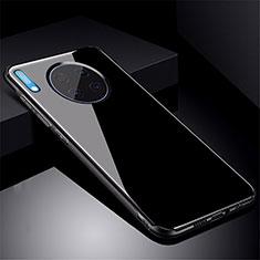 Custodia Silicone Specchio Laterale Cover M01 per Huawei Mate 30 Nero