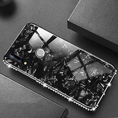 Custodia Silicone Specchio Laterale Cover M01 per Huawei P20 Lite Nero