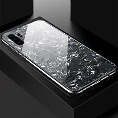 Custodia Silicone Specchio Laterale Cover M01 per Huawei P30 Pro Nero