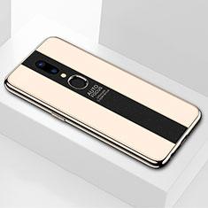 Custodia Silicone Specchio Laterale Cover M01 per Oppo A9X Oro