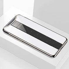 Custodia Silicone Specchio Laterale Cover M01 per Oppo Find X Bianco