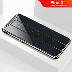 Custodia Silicone Specchio Laterale Cover M01 per Oppo Find X Super Flash Edition Nero