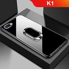 Custodia Silicone Specchio Laterale Cover M01 per Oppo K1 Nero