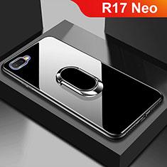 Custodia Silicone Specchio Laterale Cover M01 per Oppo R17 Neo Nero