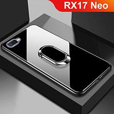 Custodia Silicone Specchio Laterale Cover M01 per Oppo RX17 Neo Nero