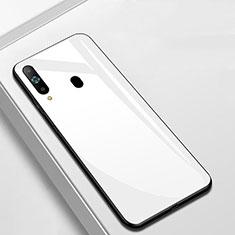 Custodia Silicone Specchio Laterale Cover M01 per Samsung Galaxy A8s SM-G8870 Bianco