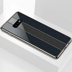 Custodia Silicone Specchio Laterale Cover M01 per Samsung Galaxy S10e Nero