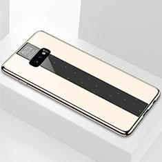 Custodia Silicone Specchio Laterale Cover M01 per Samsung Galaxy S10e Oro