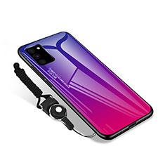 Custodia Silicone Specchio Laterale Cover M01 per Samsung Galaxy S20 FE 5G Rosa Caldo