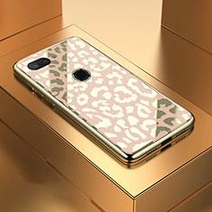 Custodia Silicone Specchio Laterale Cover M01 per Xiaomi Mi 8 Lite Oro
