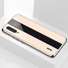 Custodia Silicone Specchio Laterale Cover M01 per Xiaomi Mi A3 Oro