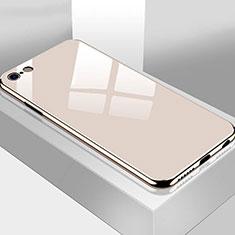 Custodia Silicone Specchio Laterale Cover M02 per Apple iPhone 6 Plus Oro