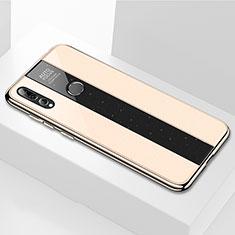 Custodia Silicone Specchio Laterale Cover M02 per Huawei Enjoy 9s Oro