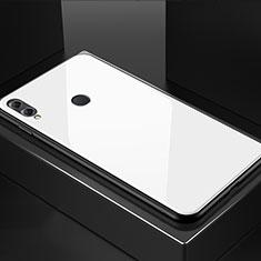 Custodia Silicone Specchio Laterale Cover M02 per Huawei Honor 8X Bianco