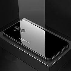 Custodia Silicone Specchio Laterale Cover M02 per Huawei Mate 20 Lite Nero