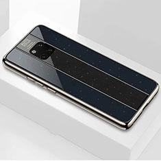 Custodia Silicone Specchio Laterale Cover M02 per Huawei Mate 20 Pro Nero
