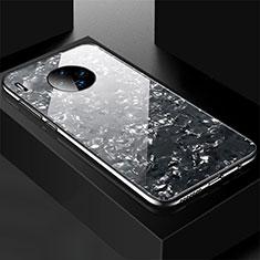 Custodia Silicone Specchio Laterale Cover M02 per Huawei Mate 30 Nero