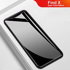Custodia Silicone Specchio Laterale Cover M02 per Oppo Find X Super Flash Edition Nero